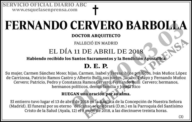 Fernando Cervero Barbolla